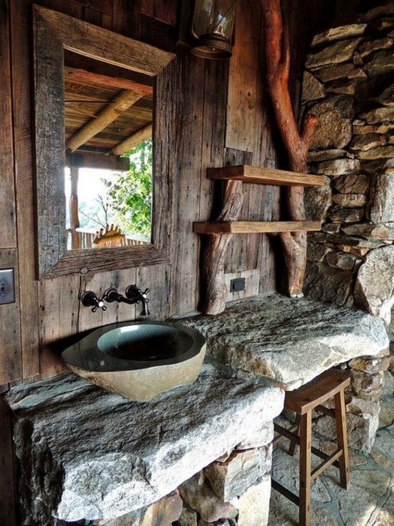 Okay, it isn't really an outdoor shower, but the purpose is clearly to clean up after being outdoors.  I think it is absolutely gorgeous.