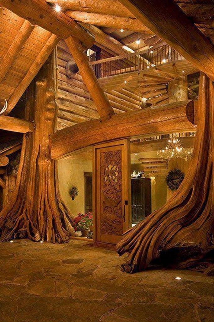 Amazing Log Home - Entry