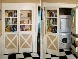 If you're living in an apartment, it's important to make the most of the space you have.  Here's a pantry cabinet that hides a compact washer and dryer set up behind it.  Is it a WIN or FAIL? Let us know in the comments section.