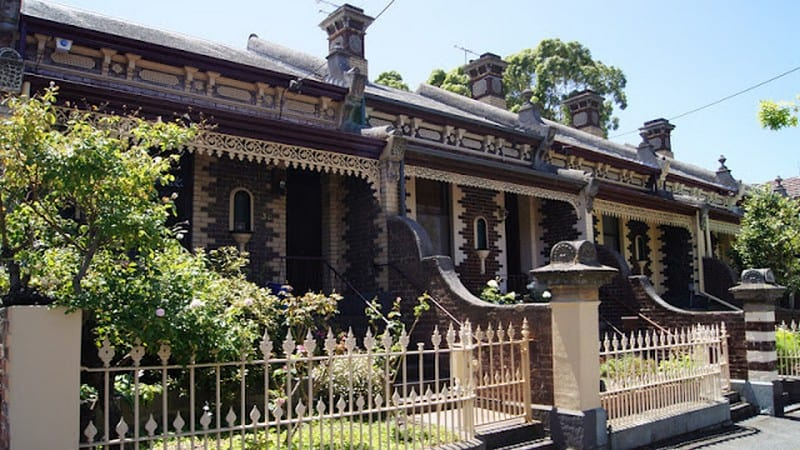 Melbourne Terrace Homes - not much more than a façade.