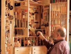 Do you know someone who would love this storage system for woodworking tools?