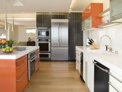 Orange, Grey and Stainless