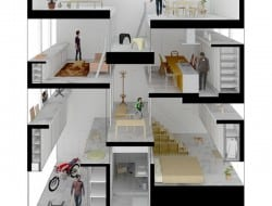 Amida House - Section