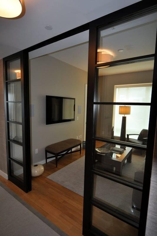 Good use of Shoji-style doors
