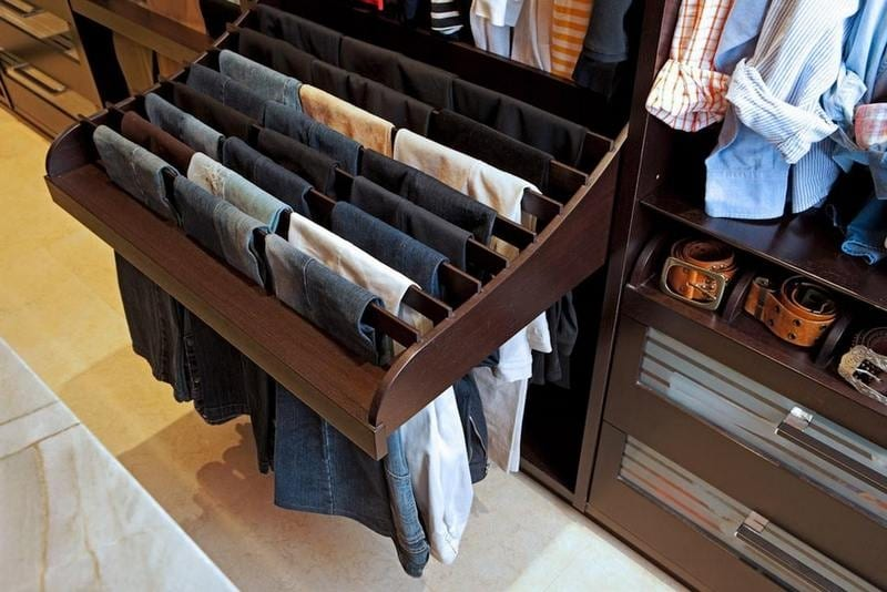 Here's a clever idea for storing pants. What do you think?