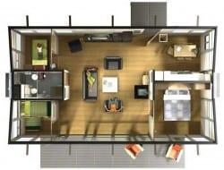 HABODE - Three Bedroom Plan