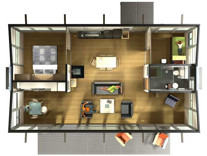 HABODE - Two Bedroom Plan