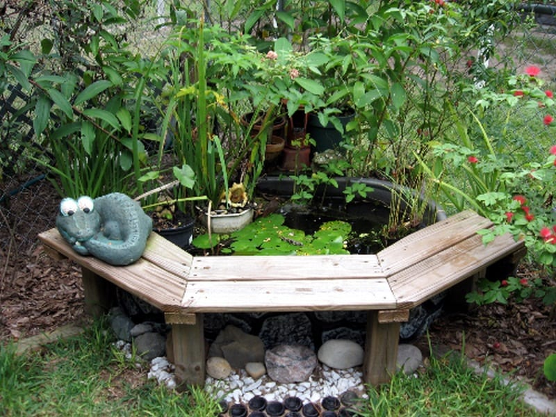 If you're looking for a small DIY water feature that allows you to sit right next to it, then this could be for you. A couple of fish to control the bugs and you're in heaven.  What do you think?