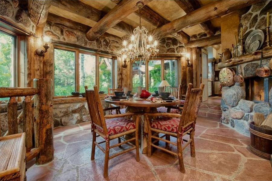 This dining room has rustic written all over it. Is it too much for your liking? What would you change?