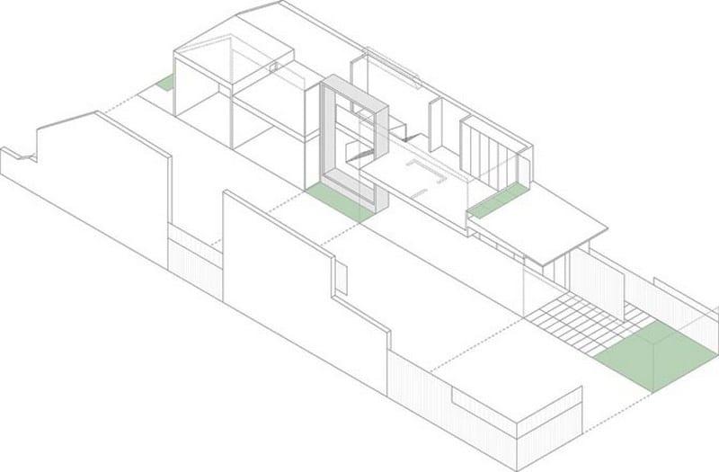 Erskineville House - axometric