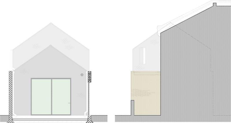 Gingerbread House - Side Elevation