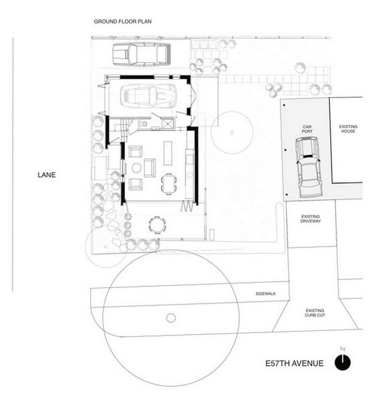 57th & Vivian - 'Net Zero' Solar Laneway House Floor Plan 01