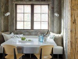 Rustic alcove dining