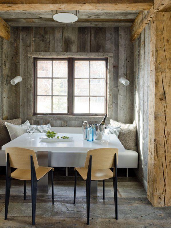 Rustic alcove dining