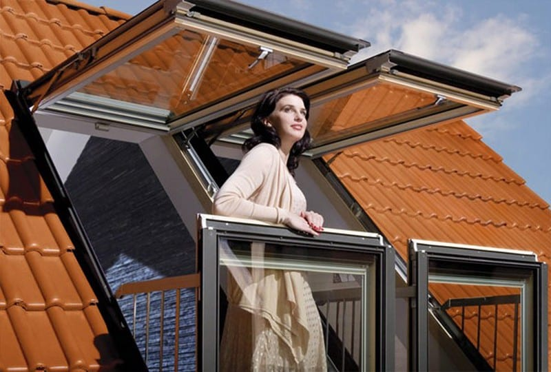 Fakro Balcony System - The Fakro and Velux systems do not add space