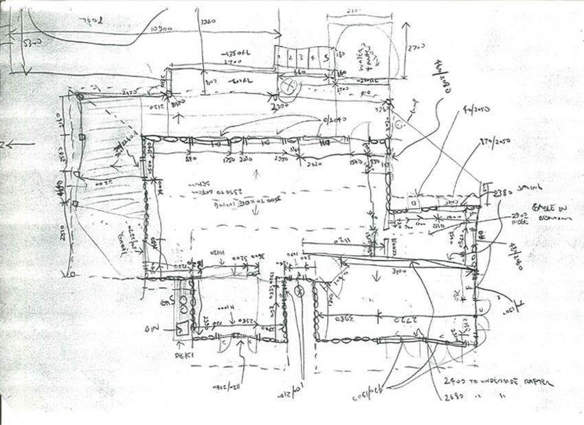 Concept sketch - Bowen Mountain House - New South Wales, Australia