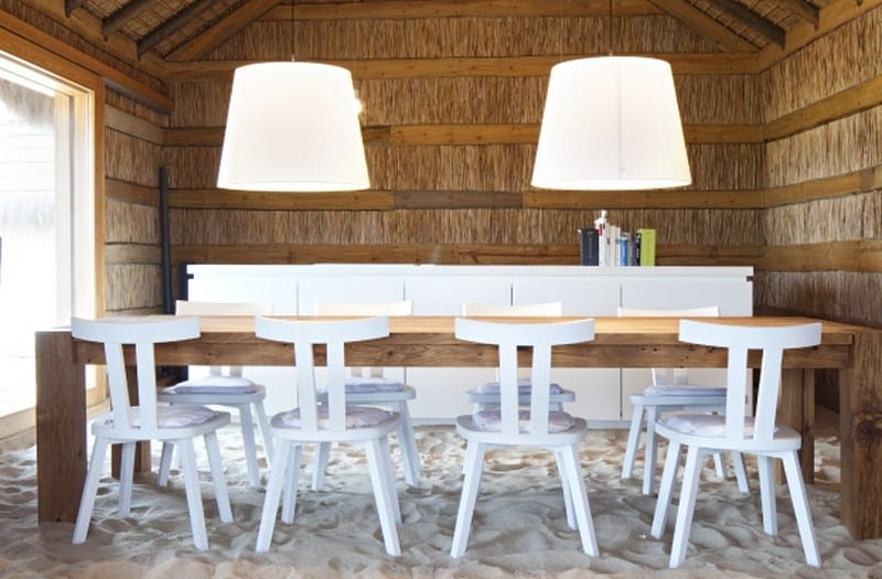 How casual can a dining room get?
