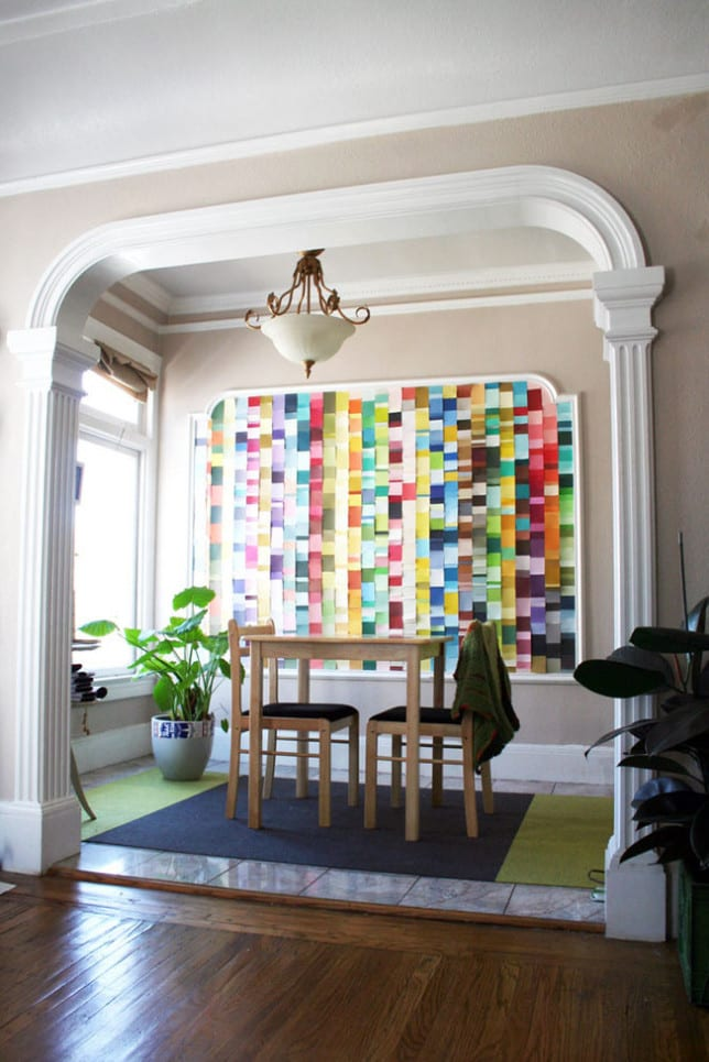 Colour Chart Feature Wall