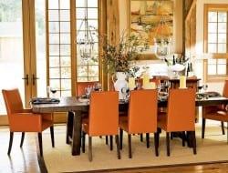 Artistic Orange Dining Room Interior - Prove That The Orange