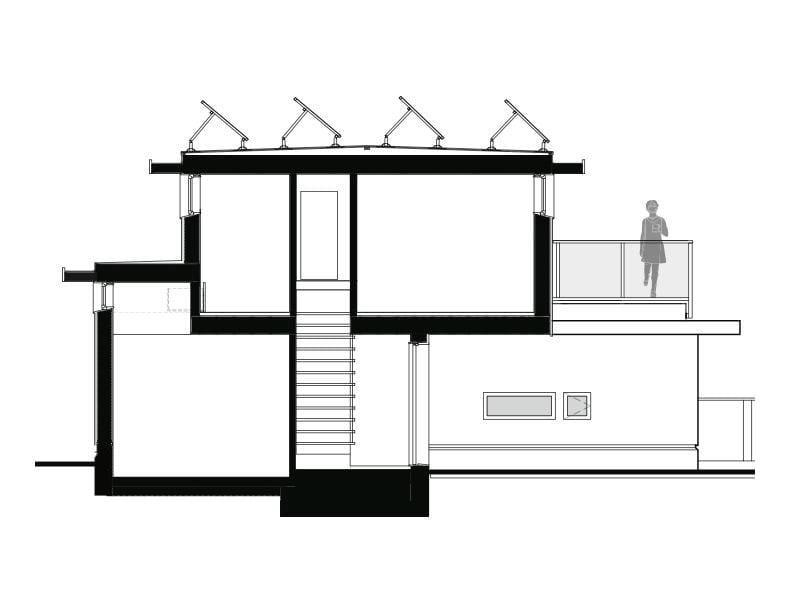 57th & Vivian - 'Net Zero' Solar Laneway House Section