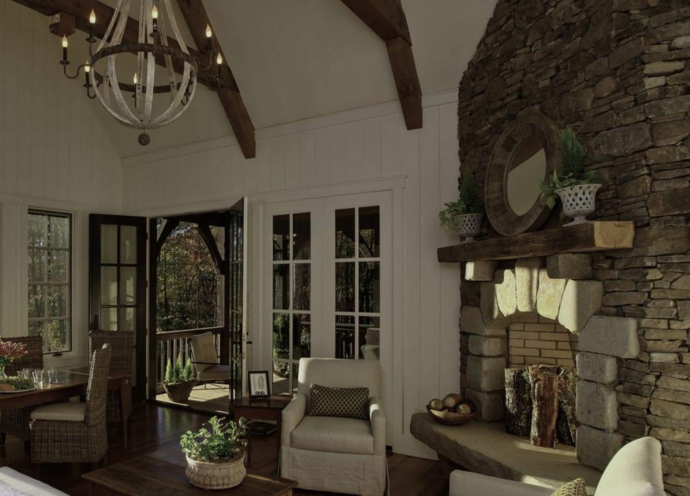 Rock Mountain Cottage Cashiers NC - Fireplace