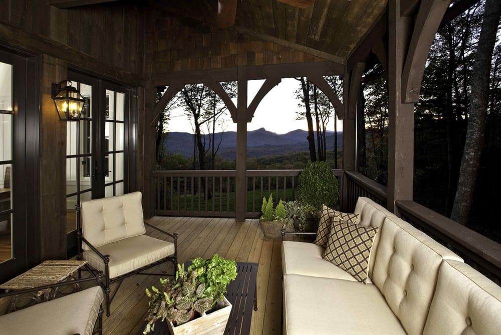 Rock Mountain Cottage Cashiers NC - Porch