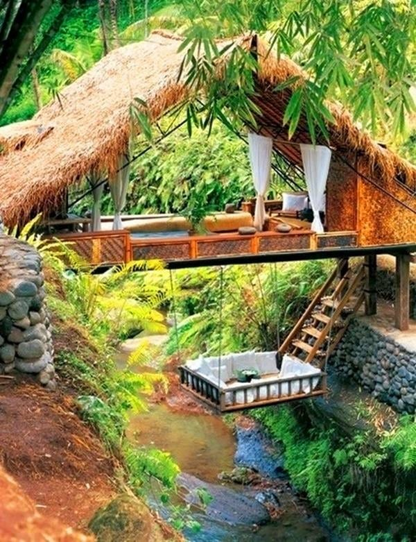 Another example of the amazing opportunities contained within that amazing grass - bamboo. Would this place help you relax?