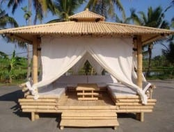 Another example of the amazing opportunities contained within that amazing grass - bamboo. Would this bamboo gazebo help you relax?