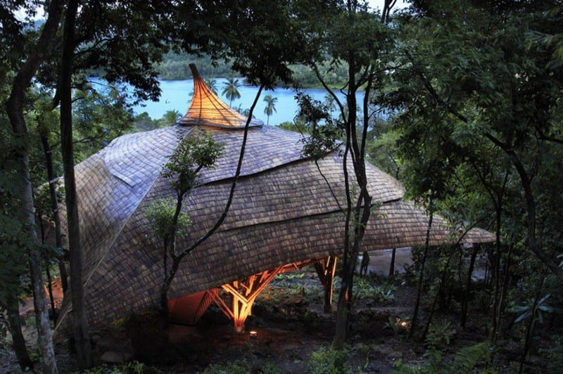 Another example of the amazing opportunities contained within that amazing grass - bamboo. Currently under construction, it will form a part of a new resort in Thailand.