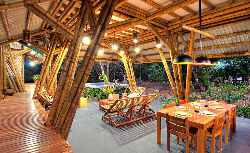 If you have been with us for a while, you'll know that we're a big fan of bamboo construction.  Nice space?