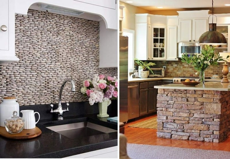 Here are two kitchen ideas using dry stone wall principles.  Do you like them, prefer one more than the other or are neither of the ideas really your taste?  Let us know your thoughts.