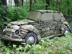 Is it a dry stone wall, a piece of garden art, or just a folly?   Built in 1976, it really is a classic. What do you think?
