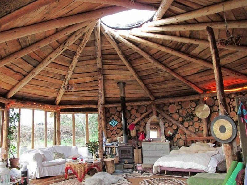 Who wants this as a weekender? It's part of the Plan-It-Earth complex at Sanscreed, Cornwall, UK.