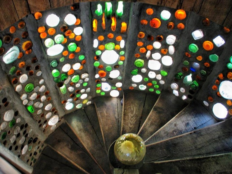 Here's an alternative to stained glass. It's made from recycled bottles. What do you think?