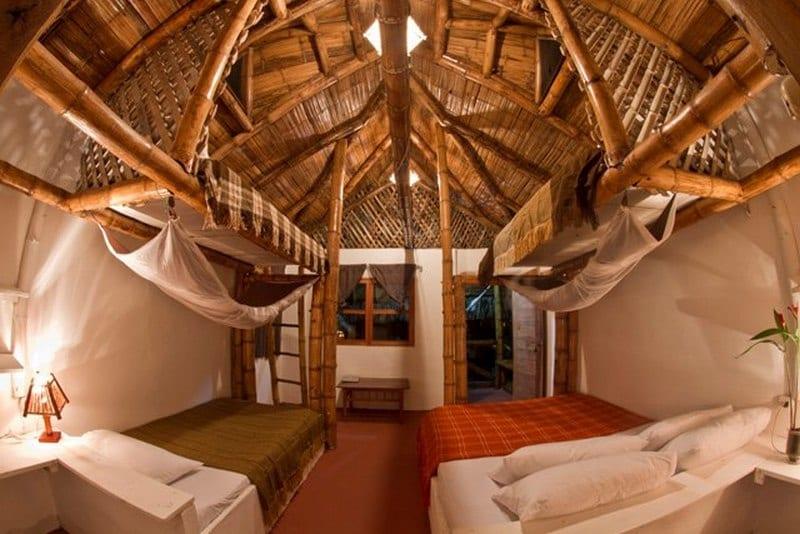 A bamboo cabin