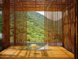 The Great Wall bamboo house by Kengo Kuma