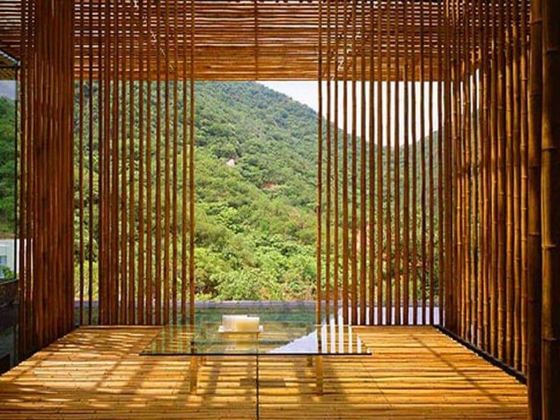 The Great Wall bamboo house by Kengo Kuma