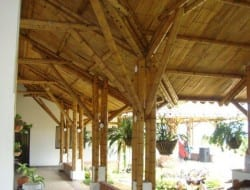 A covered veranda