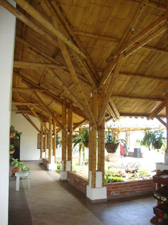 A covered veranda