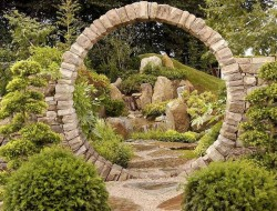 This is a nice take on the traditional Chinese moon gate. Could you find a spot for it in your garden?