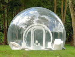 An intimate bubble for a dream weekend or is this more like a nightmare?