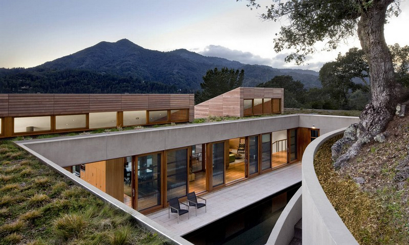 High on a hill with mountain and bay views