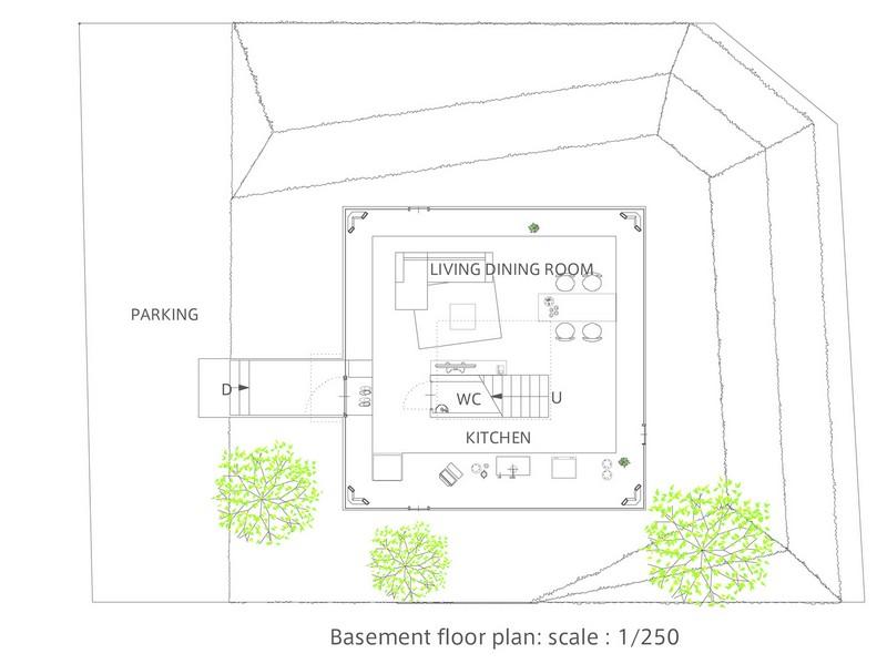 House in Saijo - Basement Floor Plan