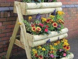 Multi Tier Wooden Garden Planter - Garden Site