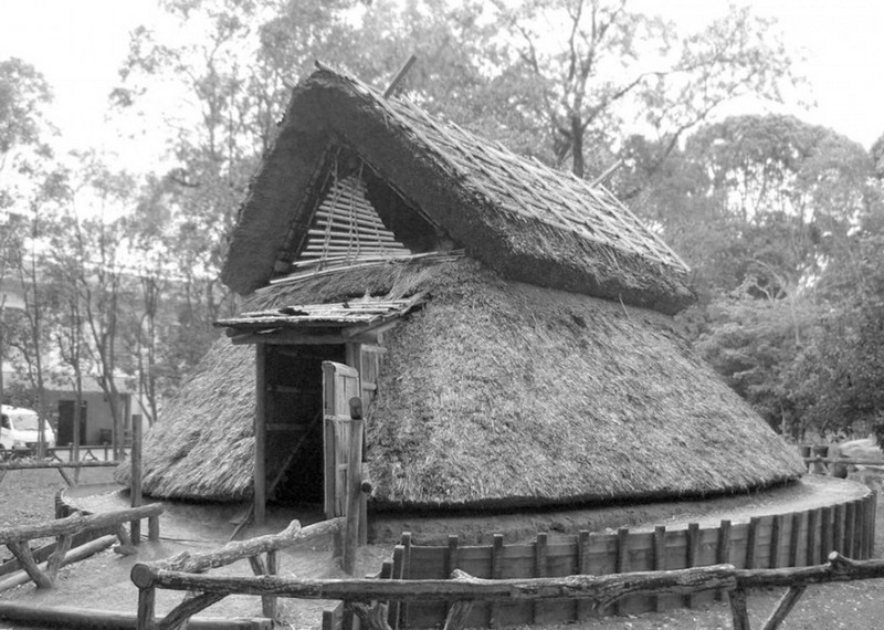 The inspiration for the design - a traditional pit house...