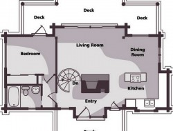 Small Scale Timber Cabin - Floor Plan 01
