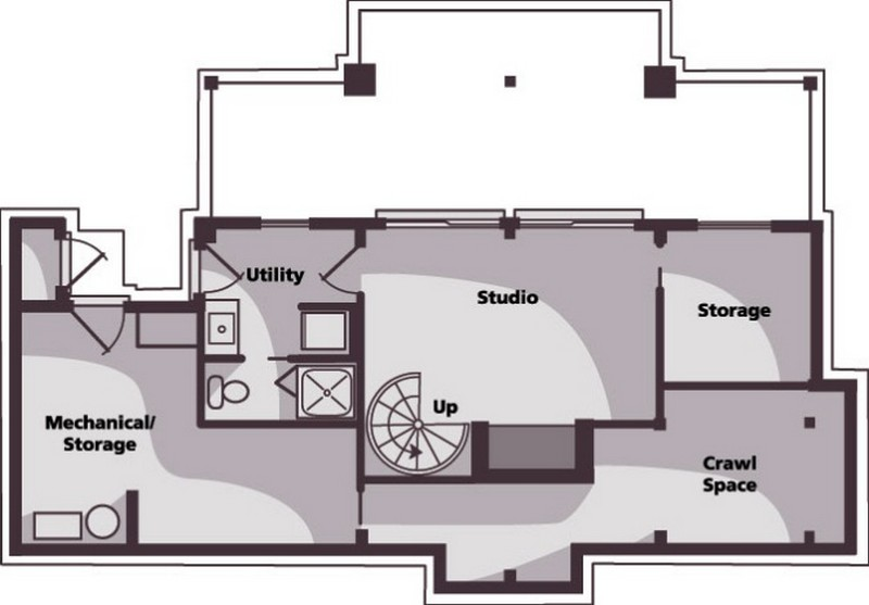 Small Scale Timber Cabin - Floor Plan 02