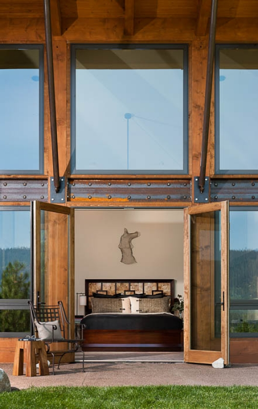 The master bedroom opens directly on to a private patio