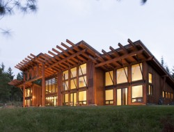 A striking home on a striking lot... PrecisionCraft Log and Timber Homes