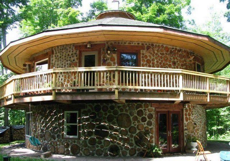 Cordwood masonry, cordwood construction, stackwall, log-end, stovewood or stackwood.